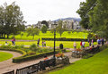 A Busy Crow Park in Keswick, Cumbria Stock Photos
