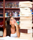 Busy female student Stock Photography