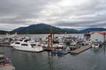 The busy harbor at prince rupert Royalty Free Stock Photo