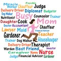 Busy Mom Word Cloud