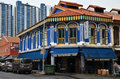 The busy neighborhood of Little India in Singapore