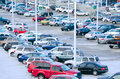 Busy packed parking lot Stock Images
