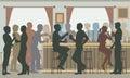 Busy pub bar