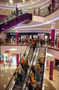 Busy shopping mall Royalty Free Stock Photo