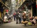 Busy Street, Old Quarter, Hanoi, Vietnam Royalty Free Stock Photo