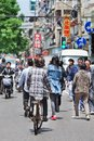 Busy streetlife on a summerday in Shanghai, China Royalty Free Stock Photo