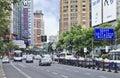 Busy traffic at city center, Shanghai, China