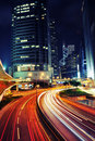Busy Traffic At Night - Hong K...