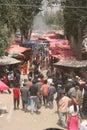 Busy uighur market Royalty Free Stock Photo