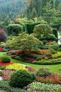 Butchart Gardens - Sunken Garden view Royalty Free Stock Photos