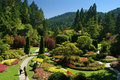 Butchart gardens victoria bc march named as one of top north american on march photo from july Stock Images