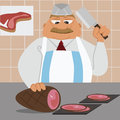 Butcher Stock Photo