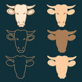 Butcher cow head labels