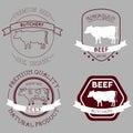 Butcher cow labels