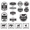 butcher labels and diagrams. Vector illustration decorative design