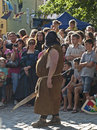 The butcher from sighisoara medieval festival Royalty Free Stock Photography