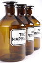 Butelki środek farmaceutyczny Zdjęcie Stock