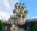 Butron castle spain very old in Stock Photography