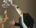 Butt head quit cigarette smoking cessation Royalty Free Stock Photo