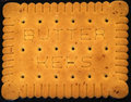Butter biscuit portrait Royalty Free Stock Photo