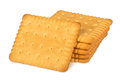 Butter biscuits stack of on white background Stock Image