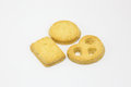 Butter cookie biscuit Royalty Free Stock Photo