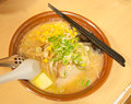 Butter and corn ramen Royalty Free Stock Photo