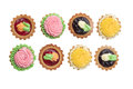 Butter Cream and Jam Tarts Royalty Free Stock Photo