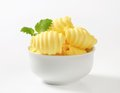 Butter curls of fresh in bowl Royalty Free Stock Image