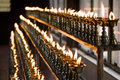 Butter lamps rows of at a buddhist monastery Stock Images