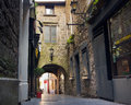 Butter slip kilkenny ireland mar historic passageway in medieval on mar this narrow arched alley was built in the Royalty Free Stock Images