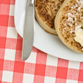 Buttered Crumpet Royalty Free Stock Photo