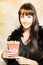 Buttered popcorn at showtime Stock Image