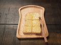 Buttered toast Royalty Free Stock Photo