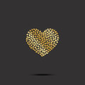 Butterflies from gold heart on black background. Vector
