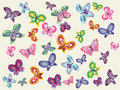 Butterflies kit vector image with colorful Royalty Free Stock Photography