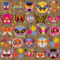 Butterflies pattern Royalty Free Stock Photography