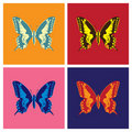 Butterflies in pop art Royalty Free Stock Photography