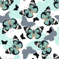 Butterflies seamless pattern Royalty Free Stock Photo