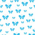 Butterflies seamless pattern, cute animal pattern with white background.