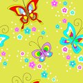 Butterflies seamless pattern. Cute design for textiles, children`s clothing, postcards. Vector illustration