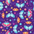 Butterflies Seamless Repeat Pattern Royalty Free Stock Image