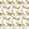 Butterflies seamless repeat pattern background