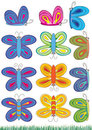 Butterflies Sets_eps Royalty Free Stock Photo