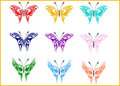 Butterflies - vector Royalty Free Stock Photos