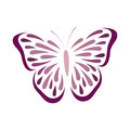 Butterfly abstract illustration in vector Royalty Free Stock Photos