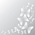 Butterfly background with shadow created by vector Royalty Free Stock Photos