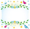 Butterfly banner Royalty Free Stock Image