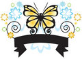 Butterfly Banner Stock Photos