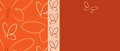 Butterfly Banner Royalty Free Stock Photo